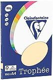 Clairefontaine Trophée - Mini resma de papel, 100 hojas, A4, 21 x 29.7 cm, color arena