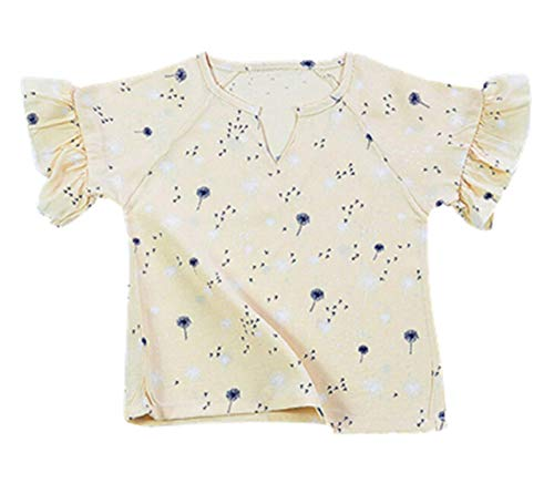 Voberry Voberry Girl's Short Flare Sleeve Print T-Shirt Summer Top