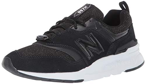 New balance 997h, sneaker donna, nero (black/white black/white), 39 eu