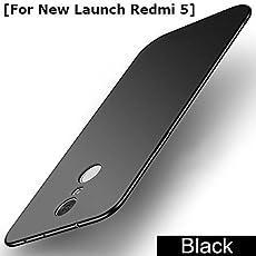Annure Slim TPU Back Cover Case for Xiaomi Redmi 5 (Black)