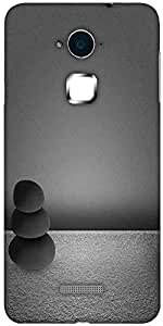 Snoogg black zen stones background Solid Snap On - Back Cover all Around protection For Coolpad Note 3 (White, 16GB)