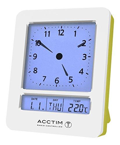 Acctim 71725Fontana LCD Analog Und Digital Radio Kontrollierte - Digitale Radio Clock Atomic