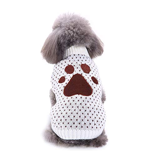 Upxiang Haustier Hund Pullover Welpen Winter Warm Footprint -