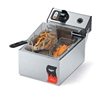 Vollrath (40705) 10 Lb. Standard-Duty 120V Electric Countertop Fryer - Cayenne® Series