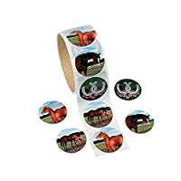 Roll of 100 Mare and Foal Horse Stickers for Kids Crafts