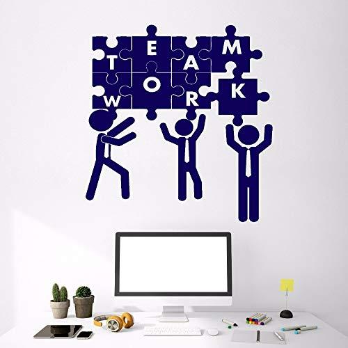 zhuziji Lavoro di Squadra Puzzle Decorazione Ufficio Adesivi in   Vinile Adesivi murali Team Building Soggiorno Camera da Letto Home Decor Stick Rimovibile 42x48cm