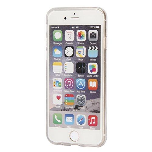 iPhone 8 Hülle,iPhone 7 Hülle,ikasus Handyhülle iPhone 8 / iPhone 7 Silikon Hülle Schutzhülle [Kristallklar Durchsichtig],Kunst Malerei Muster Stoßdämpfend Transparent TPU Silikon Schutz Handy Hülle C Love Life Feder Vögel