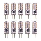 VINP 10er G4 LED Lampe 2 Watt 12V DC/AC Stiftsockel Halogen Leuchtmittel 24x 3014 SMD LED Birne Warmweiß