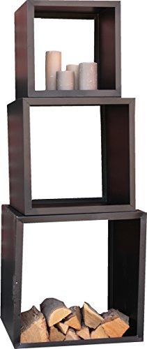 "Kaminholz-Ständer ""Cube"" KAMINHOLZKORB METAL 40X40X35 124081A"