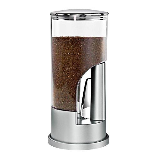 Honey Can Do Indispensable Dispensador de Café, Acero Inoxidable, Plateado y Cromado, 11.43x11.43x26.67 cm