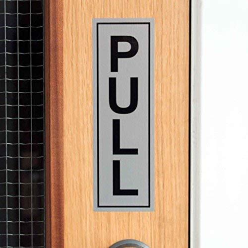 Autocollant vertical en vinyle pour intérieur et extérieur 190 x 60 mm Pull Silver