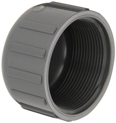 GF passepoil systèmes en PVC Raccord de tuyau, Casquette, DE Planifier 80, gris, Slip Douille, 3/8, gris, 1