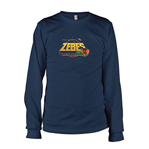 TEXLAB - Greetings from Zebes - Herren Langarm T-Shirt, Größe XL, dunkelblau