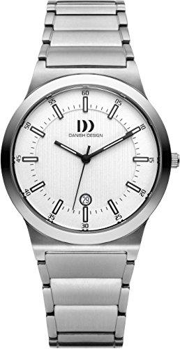 Danish Design Men's Quartz Watch with White Dial Analogue Display and Silver Titanium Bracelet DZ120207