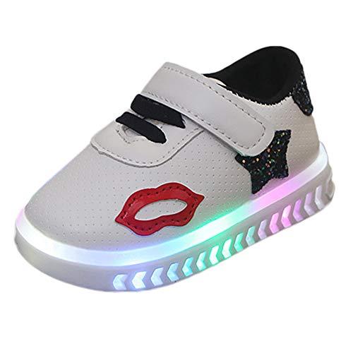 Streifen LED-Leuchten Schuhe Kleinkind Kinder,ABSOAR Baby Mädchen Jungen Sportschuhe Mode Einzelne Schuhe 2018 Sommer Neue Sneakers Lässig Turnschuhe für 1-6 Jahr (5-5.5 Jahr, Schwarz D)