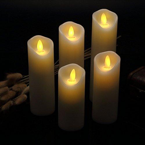Velas sin Flama- Parpadeo sin Flama conjunto Velas Decorativas-Velas sin Flama: 4