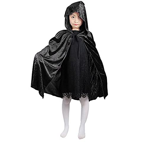 Favoridol Halloween Cape à Capuche Enfant Longue Costume Cosplay Sorcière
