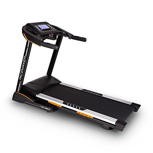CAPITAL SPORTS Pacemaker X30 Tapis de course professionnel (programme d'entrainement personnalisé selon la durée, la distance et la consommation de calories)