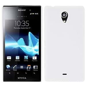 Pure Color Plastic Case for Sony Xperia T / LT30i (White)