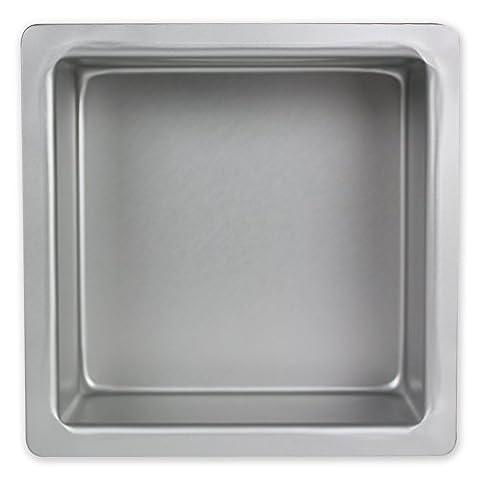 PME à gâteau carré en aluminium anodisé, Aluminium, argent, 9 x 9-inch