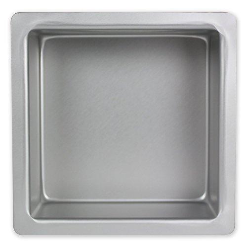 PME SQR054 Quadratische Kuchenform aus eloxiertem Aluminium, 127 x 127 x 102 mm, Silver 12 x 12 x 10 cm (Pan 12 10 X)