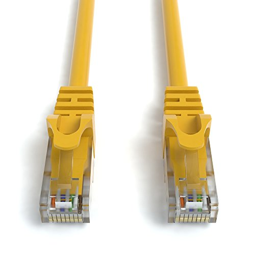 10m CAT.6 Netzwerkkabel (RJ45) Patchkabel Ethernet Lan in gelb  1Gbit/s   250MHz   kompatibel zu CAT.5 / CAT.5e / CAT.6   von JAMEGA