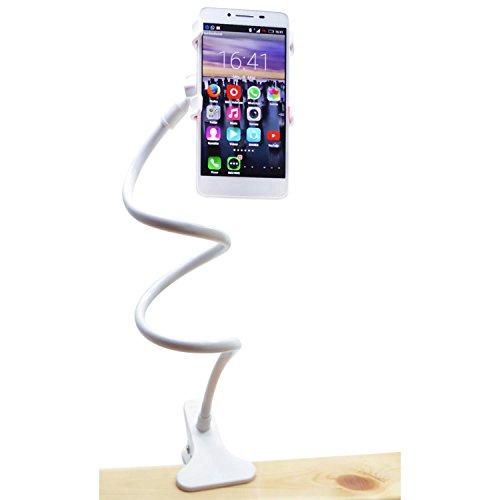 Weißer Schwanenhals (Creavvee® Schwanenhals Handyhalter Universal Ständer in Weiss)