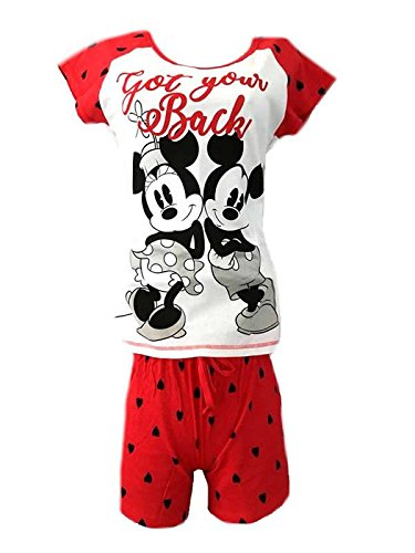 Character Clothing Ladies Girls Novelty Shortie Shorts Pjs Ariel Wonder Woman Batgirl Minnie Moose Tatty Teddy Eeyore 8-22