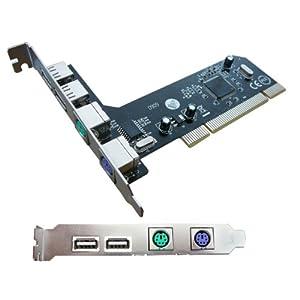 Kalea Informatique PCI-Karte USB 2.0 + PS/2 – 2 Ports PS2 Für Maus und Tastatur (hinzu oder sich subsituent den Nativen…