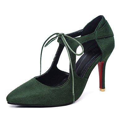 LvYuan Sandali-Ufficio e lavoro Formale Casual-Altro-A stiletto-Felpato-Nero Verde Rosso Tessuto almond Green