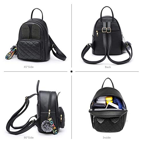 Best mini backpacks for girls in India 2020 Alice Girls Rabbit Ear Fashion Backpack Cute Mini Leather Backpack Purse for Women Image 3