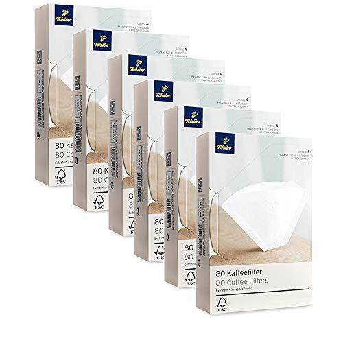 Tchibo Kaffeefilter in Größe 4 - passend für alle gängigen Kaffeemaschinen, Vorteilspackung (6 x...