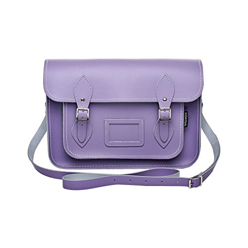 Zatchels - Sac cartable en cuir could pastel (Fabrication britannique à la main) - Femme Bleu pâle