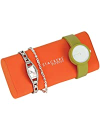 Stackers Orange Bracelet and Watch Pad Accessory for Chocolate Brown Bright Jewellery Boxes