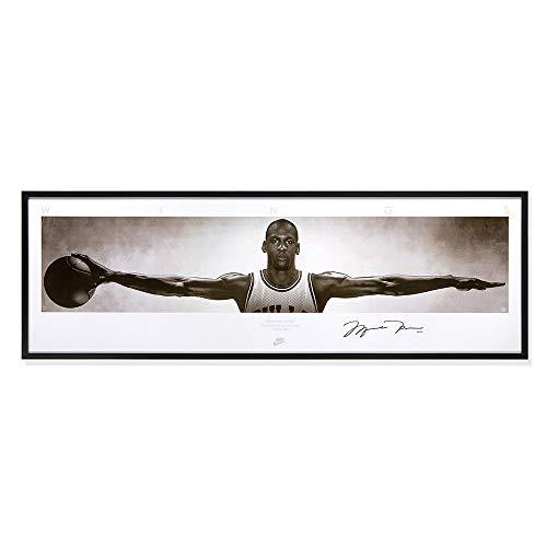 Póster autografiado Michael Jordan lienzo impreso