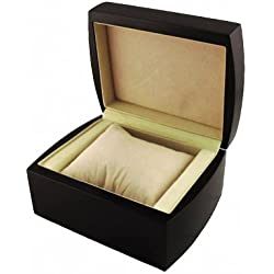 MapofBeauty Luxury Dark Brown Watch Box