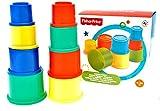 Fisher-Price Stapelbecher Stapelturm Stapelwürfel für Kinder zum Spielen und Lernen der Feinmotorik