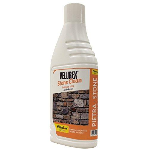 Chimiver - VELUREX STONE CLEAN | Saures Reinigungsmittel in wässriger Lösung. Flasche 1L -