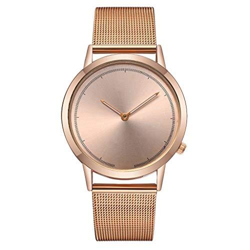 cb69a6b794ff Caja para Relojes Hombre, vansvar Casual Quartz Acero Inoxidable Band Newv  Correa de Reloj Analog