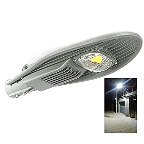 LED Street Light 50W,ATOPSUN,White 5000-7500LM for Outdoor Area Lighting Yard