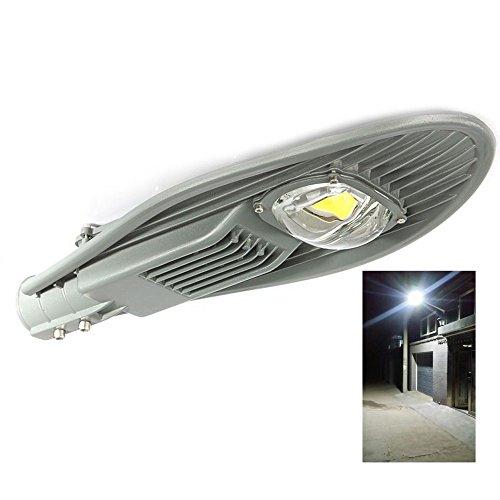 JADIDIS 50W Led Strassenleuchte Straßen Licht 5000-7500LM Tageslichtweiß Wasserdicht IP65 Außenbeleuchtung für Garten Auffahrt Hof Parkplatz 85-265V [Energieklasse A++] (Led-parkplatz-beleuchtung)
