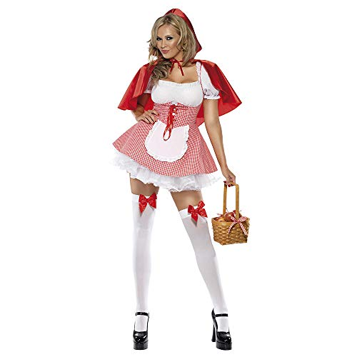 Cosplay Uniform, Plaid Little Red Riding Halloween Castle Castle Queen Show ()