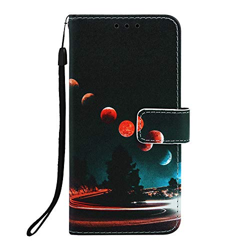 Miagon für iPhone 6S Plus / 6 Plus Leder Hülle,Klapphülle mit Kartenfach Brieftasche Lederhülle Stossfest Handy Hülle Klappbar,Galaxis