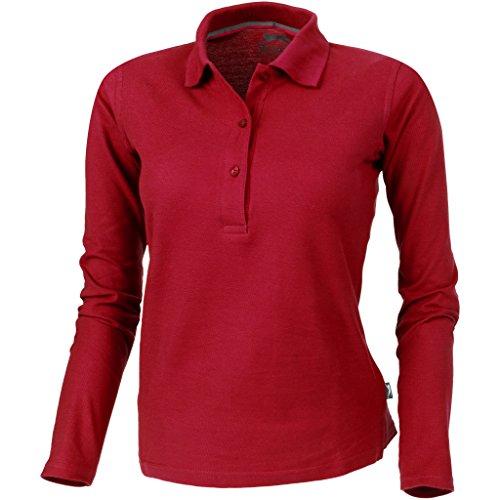 Slazenger Damen Point Langarm Polo Shirt (S) (Rot)