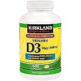 Kirkland Max Force vitamine D3 - 600 Capsules