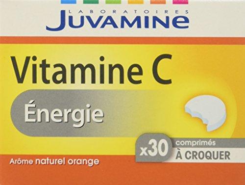 Juvamine Boisson Énergisante Vitamine C à Croquer x 30 Comprimés - Lot de 12