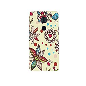 Mikzy Flower And Heart Pattern Printed Designer Back Cover Case for LeTv Le 2 (MultiColour)