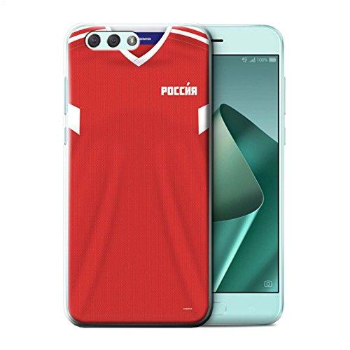 Stuff4® Hülle/Case für Asus Zenfone 4 ZE554KL / Russland/Russisch Muster/Weltmeisterschaft 2018 Fußball Trikot Kollektion (Fußball-trikot Asu)