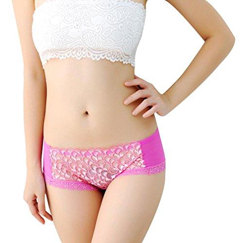 FEITONG Spitze Slips Schlüpfer Thongs G-String Lingerie Erotik Unterwäsche Damen Heißes rosa