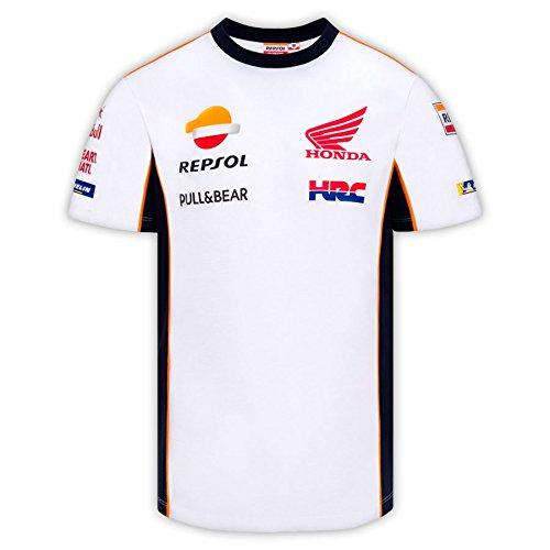 HONDA Repsol Moto GP Team Marquez, Pedrosa Camiseta Blanco Oficial 2018